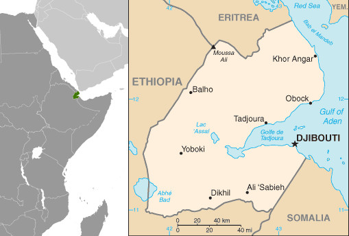 Mapa do Djibouti. Fonte: CIA.gov