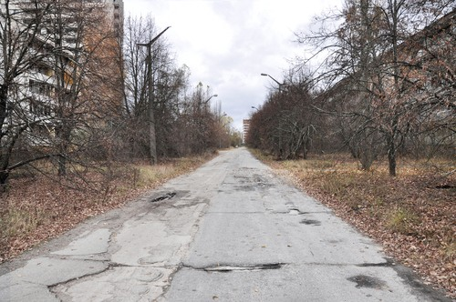 Rua deserta em Pripyat. Foto: BPTU / Shutterstock.com