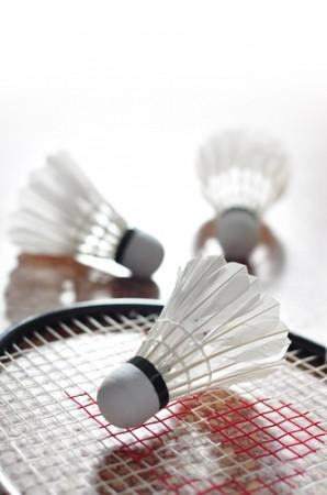 Raquete e volantes (petecas) de badminton. Foto: Pimnana_01 / Shutterstock.com