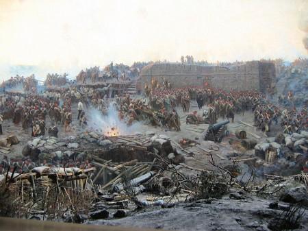 O cerco de Sebastopol (pintura de Franz Roubaud - 1904).