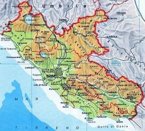 mapa lacio