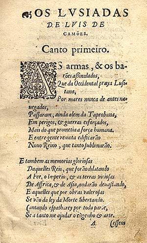 Luis de Camoes lusiadas resumo