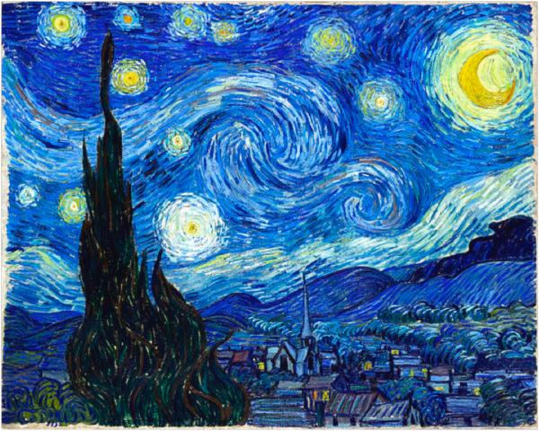 Resultado de imagem para noite estrelada van gogh