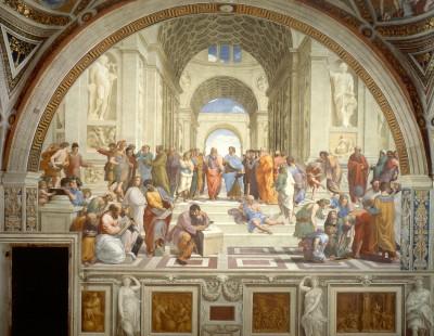 Academia de Platão. Pintura de Rafael Sanzio (1510).