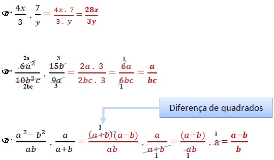 multiplicacao fracoes algebricas