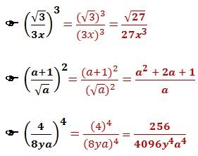 potenciacao fracoes algebricas