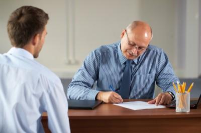 Entrevista de emprego. Foto: © iStock.com / miszaqq
