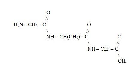 Figura 3. Peptídeo formado a partir de três aminoácidos.
