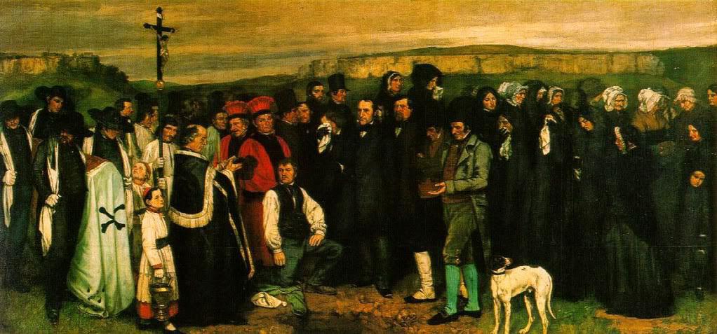 """Obra """"Enterro de Ornans"""", de Gustave Courbet (1849)."""