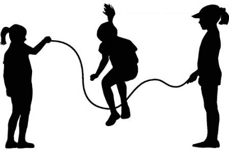 Crianças pulando corta. Ilustração: Hibrida / Shutterstock.com
