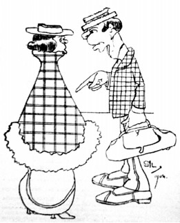 """""""A Sra. já foi vacinada?"""" """"Sim, na noite do casamento!"""" (Avenida, 08/10/1904; charge de Sil). Figura 03: Sem título Fonte: 1904 – Revolta da Vacina. A maior batalha do Rio (p.39)"""