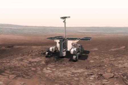 Ilustração do rover da Exomars. Fonte: ESA/NASA.