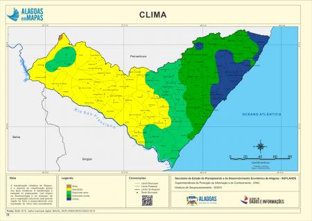 Tipos Climáticos do Estado de Sergipe. Fonte: Governo de Alagoas.