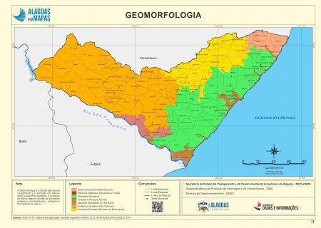 Tipos de Estrutura Geomorfológica do Estado de Alagoas. Fonte: Governo de Alagoas.
