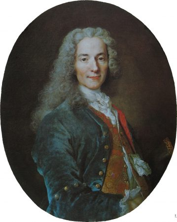 François-Marie Arouet, conhecido como Voltaire. Obra de Nicolas de Largillière, 1724.