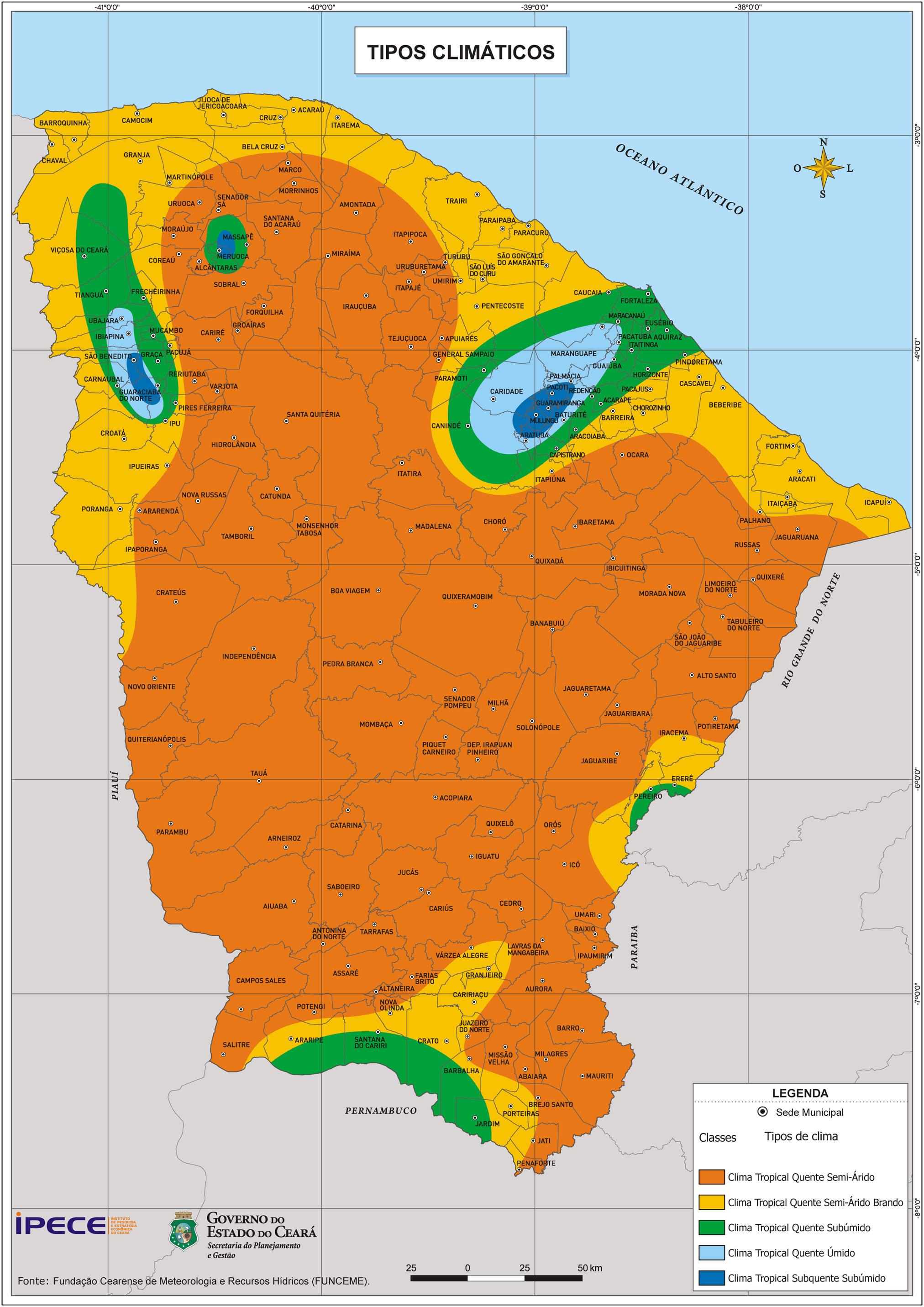 Clima do Cear  Geografia  InfoEscola
