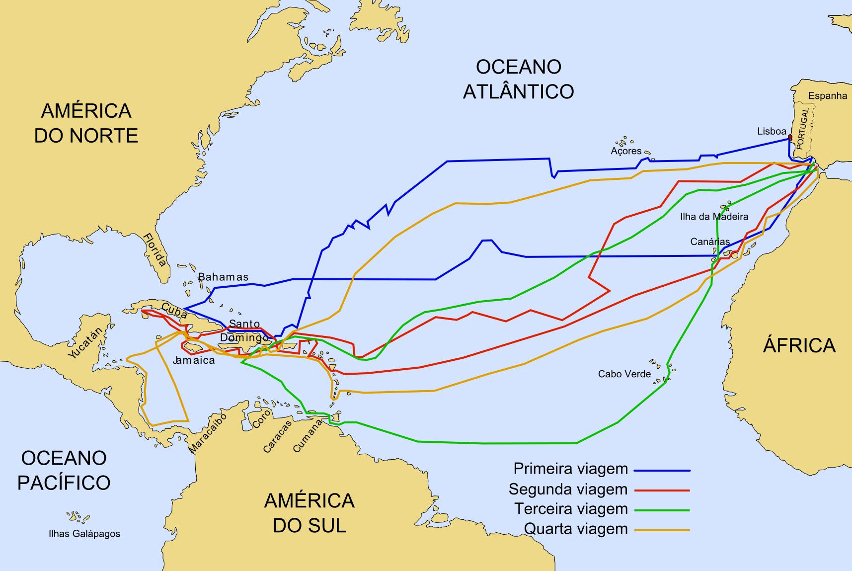 Mudei As Rotas E Meus Planos: Chegada De Cristóvão Colombo às Américas