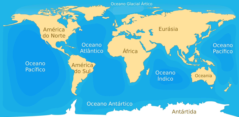 Oceanos Oceanos Do Planeta Terra Mapas E Informações Geografia