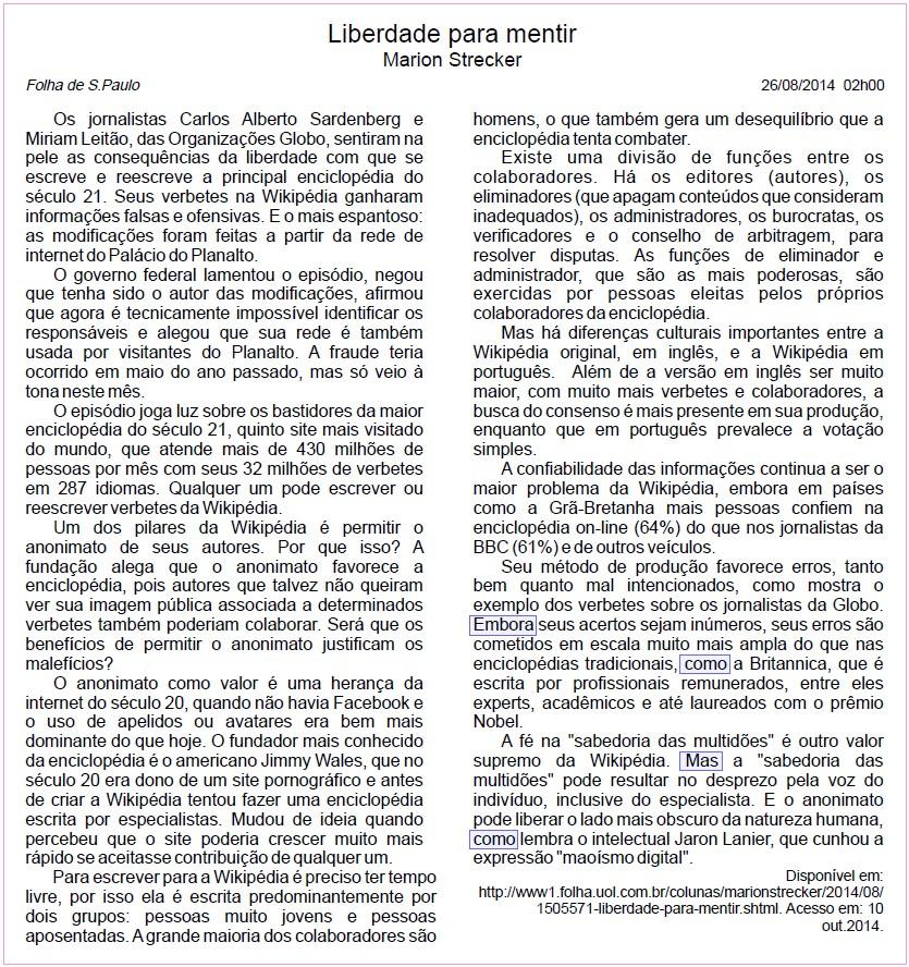 Questões da prova PUC-SP 2015/1 - InfoEscola